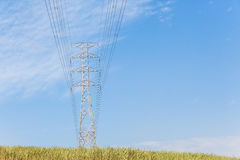 Electricity Power Lines Tower Countryside Royalty Free Stock Photo
