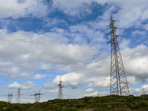 Electricity. Power lines Stock Photo