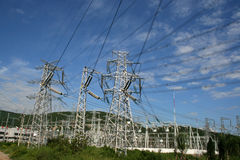 Electricity Power Pylon Royalty Free Stock Photos