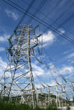 Electricity power pylon. An electricity power pylon stretches into the sky Royalty Free Stock Photography