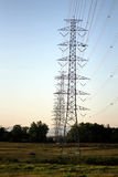 Electricity Power Pylon. Power transmission line on high voltage post Royalty Free Stock Photo