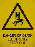 Electricity power sign Royalty Free Stock Photos