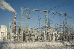 Electricity Power Station Royalty Free Stock Photo