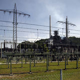 Electricity power station Royalty Free Stock Photos