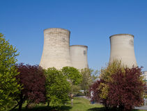 Electricity Power Station Cooling Towers Royalty Free Stock Photography