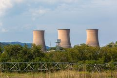 Electricity Power Station Cooling Towers Countryside Royalty Free Stock Photography