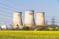 Electricity Power Station Cooling Towers Stock Photos
