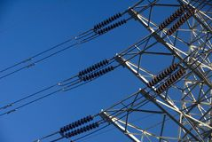 Electricity power transmission Stock Photos