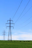 Electricity Power Transmission Lines Stock Images