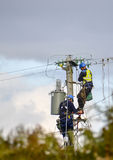Electricity Power Workers Stock Image