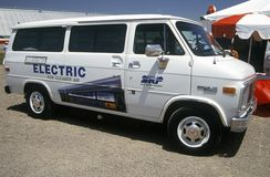 Electricity powered van at the Solar and Electric 500, AZ Royalty Free Stock Photo