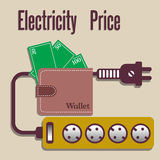 Electricity price Stock Photo