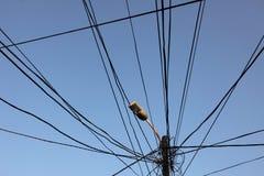 Electricity in Prizren Kosovo Royalty Free Stock Photo