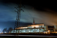 Electricity production Stock Photos