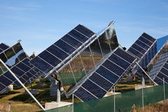 Solar electricity Royalty Free Stock Images