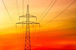 Electricity pylon Stock Photography