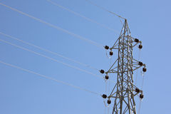 Electricity pylon. A electricity pylon in nature Stock Image