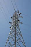 Electricity pylon. A electricity pylon in nature Royalty Free Stock Photography