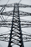 Electricity Pylon. Seen from belo stock photos