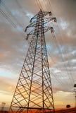 Electricity pylon. National grid power line Royalty Free Stock Photo
