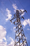 Electricity Pylon. And power lines Royalty Free Stock Photo