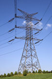 Electricity pylon. High voltage line and electricity pylon Stock Images