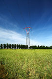 Electricity pylon. A electricity pylon in a field Stock Images