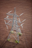 Electricity pylon aerial. Royalty Free Stock Photo