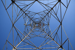 Electricity Pylon. With a Blue Sky royalty free stock photos