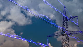 Electricity pylon stock video
