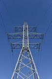 Electricity pylon blue sky Stock Image