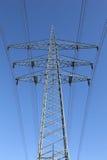 Electricity pylon and blue sky Royalty Free Stock Photo