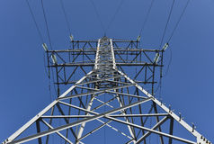 Electricity pylon with cable Royalty Free Stock Photos