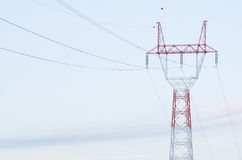 Electricity Pylon Closeup Royalty Free Stock Photography