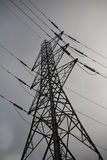 Electricity Pylon clouds and sky stock images