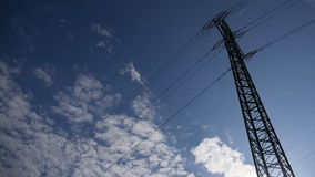 Electricity Pylon. The electricity pylon in the country during sunny day. Full HD resolution. 200MB/s stock video