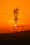 Electricity pylon in the countryside Stock Photo