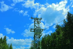 Electricity pylon. On the countryside Royalty Free Stock Image