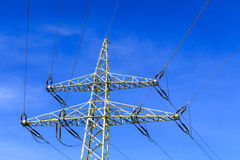 Electricity pylon. An electricity pylon the current transmission Royalty Free Stock Images