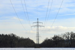 Electricity pylon. An electricity pylon the current transmission Royalty Free Stock Photography