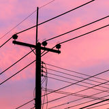 Electricity Pylon at dawn Stock Photography