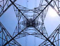 High voltage towers. Royalty Free Stock Image