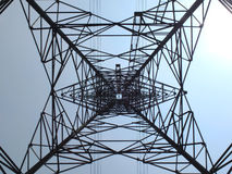 High voltage towers. Royalty Free Stock Images