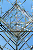 Electricity Pylon In Perspective Stock Photo