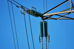 Electricity pylon insulator Royalty Free Stock Images