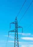 Electricity pylon isolated Royalty Free Stock Images