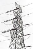Electricity pylon. Isolated on white Royalty Free Stock Photo