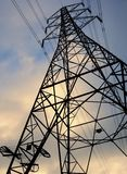 Electricity pylon national grid power Royalty Free Stock Image