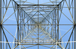 Electricity pylon in perspective Stock Photos