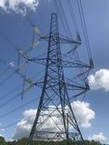 Electricity Pylon. At Potterne Park Verwood Royalty Free Stock Photos